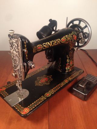 Antique Vintage Singer Model 66 Red Eye Sewing Machine Graphics photo