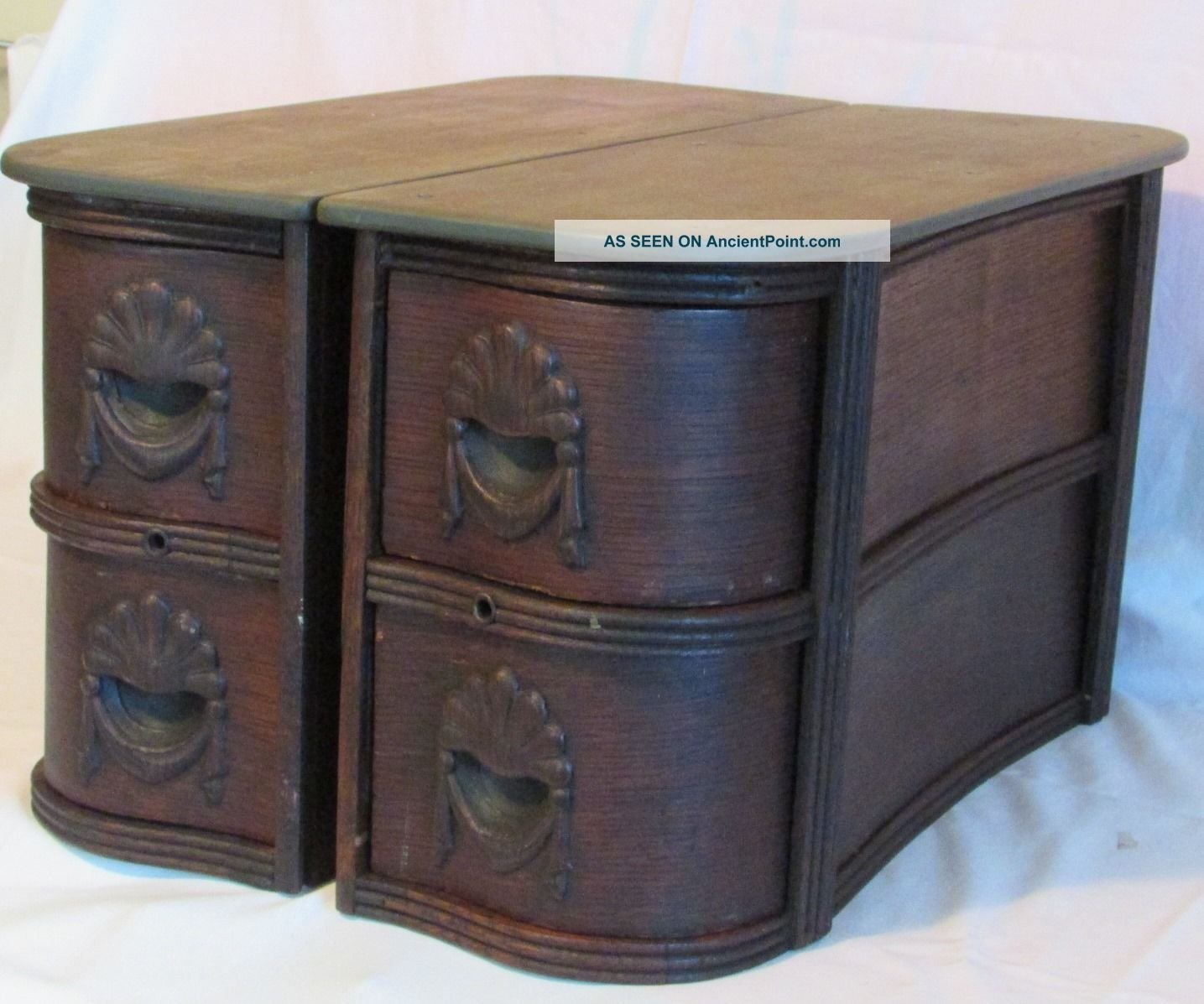 1890 ' S White Treadle Sewing Machine Four (4) Drawers W/ Frames Sewing Machines photo