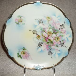 Antique Germany Porcelain Rose Plate Circa 1900 ' S,  B.  T.  Co.  Burley & Tyrell photo