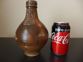 Small 17th Century Salt Glazed Bellarmine Jug Circa 1650 photo