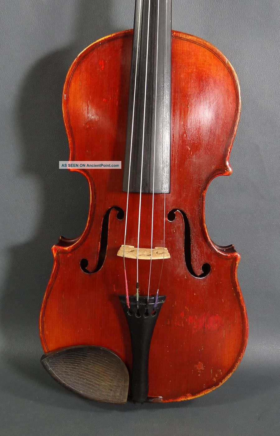 Antique Antonius Stradivarius Conservatory Soloist 7/8 Violin Fiddle Instrument String photo