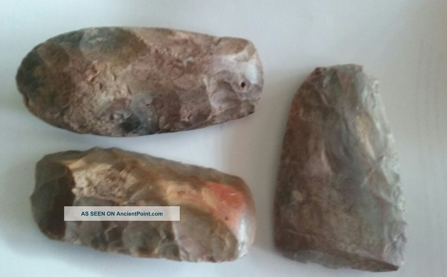 Three Ancient Egyptian Neolithic - Fayum - Hand Axes / Tools 7000 - 9000 Years Old Neolithic & Paleolithic photo