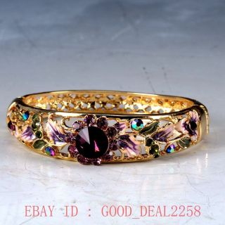 Chinese Cloisonne Handwork Carved Hollow Out Bracelet Jtl004 photo