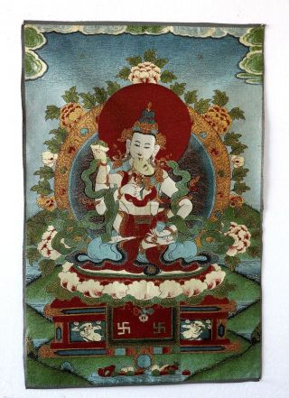 Tibet Collectable Silk Hand Painted Buddhism Thangka Tk010 photo