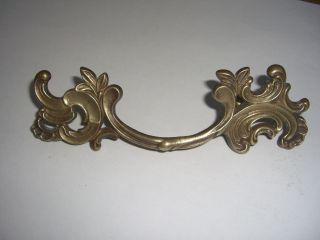 Vintage Solid Brass Drawer Pull French Provincial 6 1/2