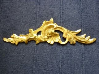 Fancy French Ormolu / Rococo Cast Brass Furniture Applique / Embellisher photo