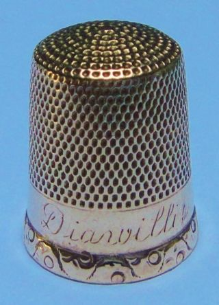 10k Gold Thimble By Simons Dated 1931,  Weighing 2.  77 Gms photo