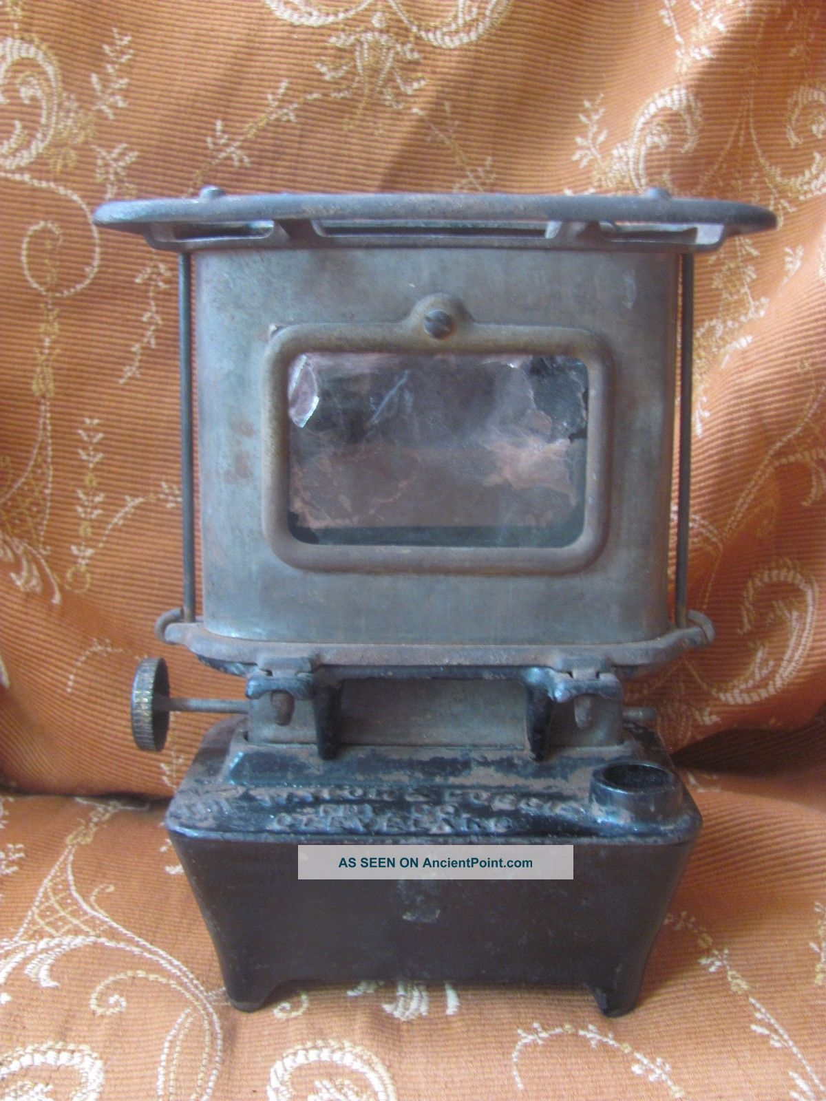 Antique Cast Iron Game Jr No.  1 Camp - Railroad - Sad Iron Heater Stove Taylor Boggis Stoves photo
