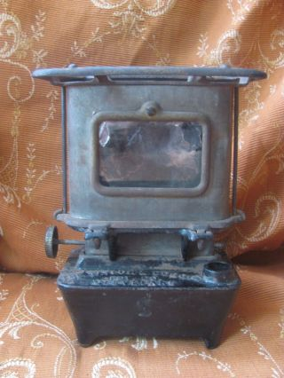 Antique Cast Iron Game Jr No.  1 Camp - Railroad - Sad Iron Heater Stove Taylor Boggis photo