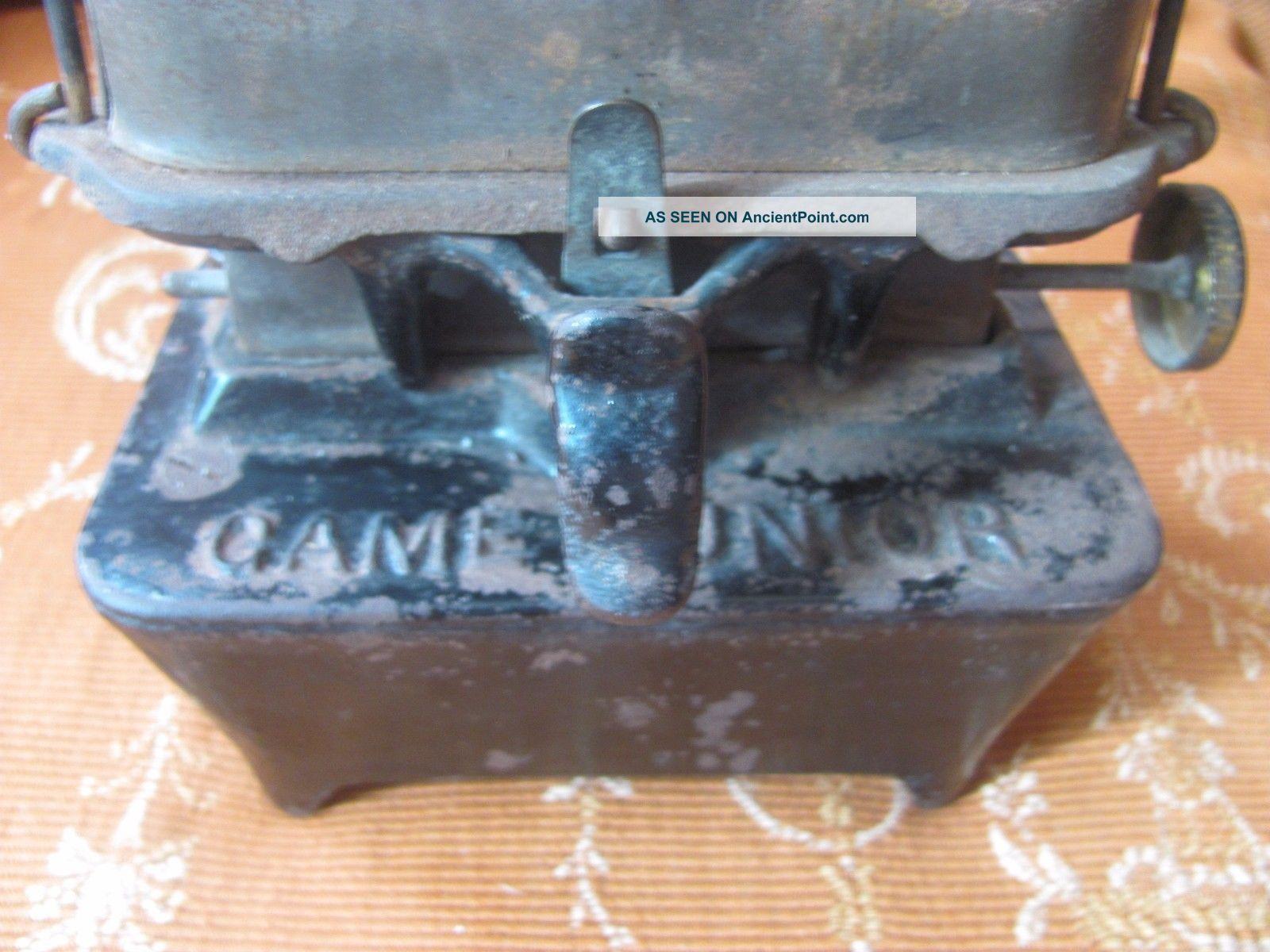 Antique Cast Iron Game Jr No 1 Camp Railroad Sad Iron