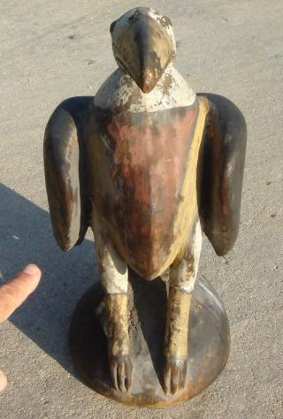 Bird Carving,  Wooden Effigy,  Pacific Northwest,  Near Seattle,  Washington photo