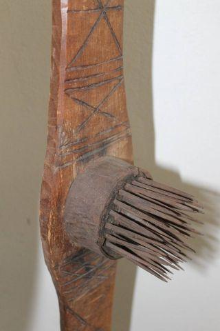 Large Primitive Antique Flax Hatchel photo