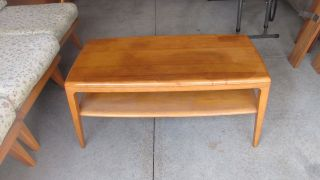 Vintage Mid Century Modern Heywood Wakefield Coffee/ Cocktail Table photo