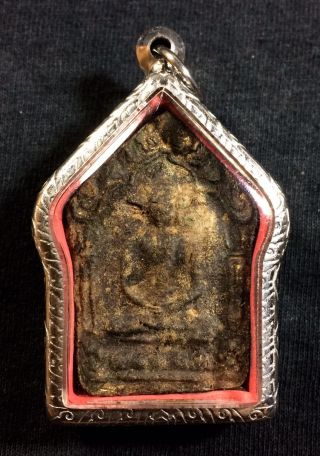 Lp Tim Wat Rahanlai Old Phra Khunpaen Prikumarn Lucky Love Amulet Real photo
