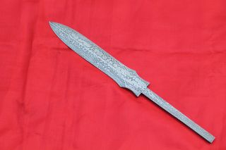 Hand Made Forged Damascus Steel Boot Dagger Hunting Dagger Knife Blank Blade photo