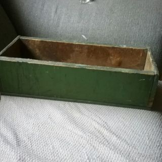 Antique Box,  Shadow Box,  Vintage Primitive Wood,  Old Green Paint photo