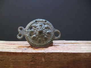 Openwork Sun Belt Buckle Ancient Celtic Bronze Warriors Decoration 300 - 100 B.  C. photo