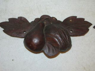 Antique Walnut Fruit Pattern Draw Pulls 7x3x1 1/4