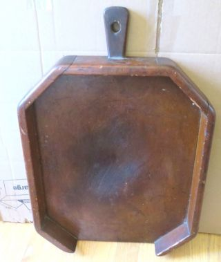 Early Wood Bread Board With Handle And Raised Perimeter 23
