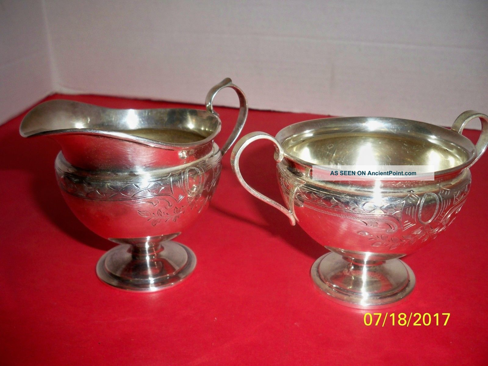 Sterling Silver Cream & Sugar,  326,  Barbour Silver Co. Creamers & Sugar Bowls photo