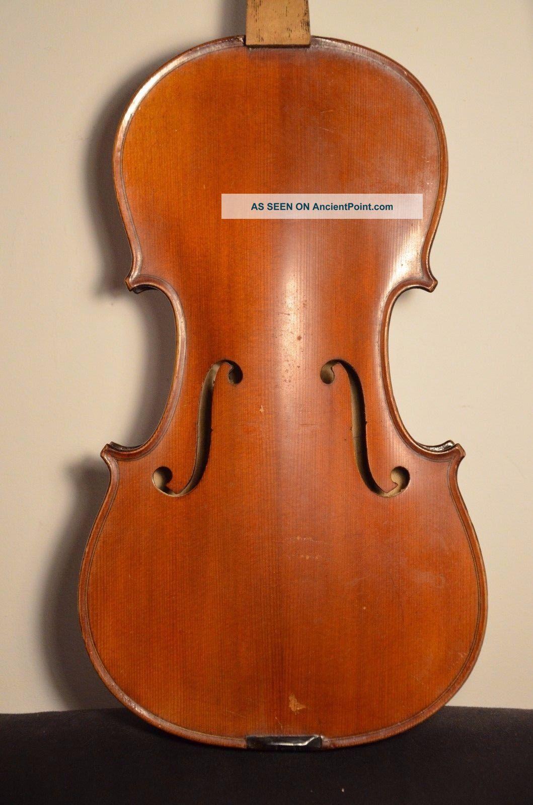 Old French Violin 3/4 Strad Model String photo