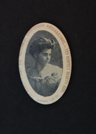 Pocket Mirror Antique Celluloid Advertising Beauty Matchless Louisville Ky Balto photo