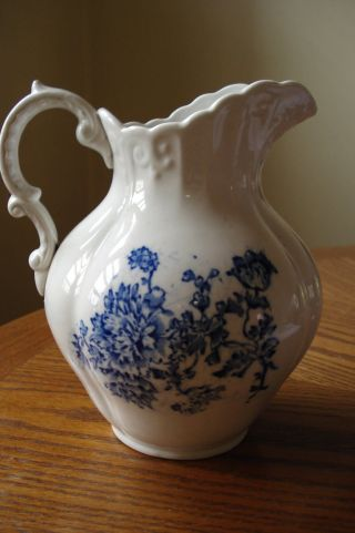Antique Stoneware Pitcher. photo