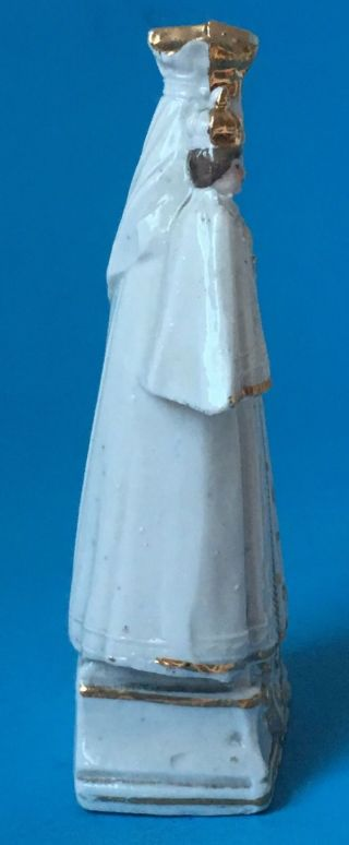 "Vintage Madonna Christ Child Porcelain Figurine Mary Jesus Gilt Trim Antique 5"" photo"