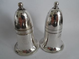 Silver Plate Hotel Ware Salt & Pepper Shakers By Mappin & Webb - Heatherbank photo