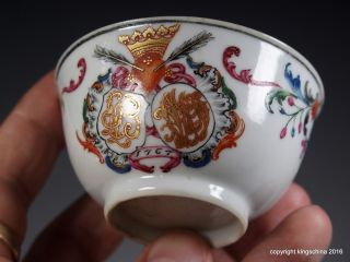 Chinese Armorial Porcelain Dutch Portuguese? Family Coat Arms Crest 中国纹章瓷板乾隆帝 photo