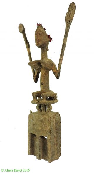 Dogon Satimbe Mask Seated Female Figure Mali African Art Was $850 photo