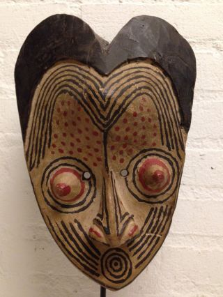 Congo: Tribal African Kuba Mask - 26 Cm. photo