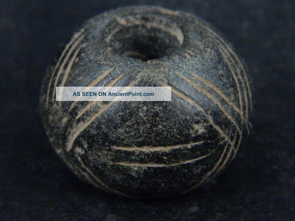 Ancient Schist Stone Bead/spindle Whorl Gandharan/gandhara 100 Ad Stn816 Near Eastern photo