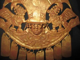 Chimu,  Moche Culture Gold Gilded Crown Pre Columbian Precolumbian Chavin photo