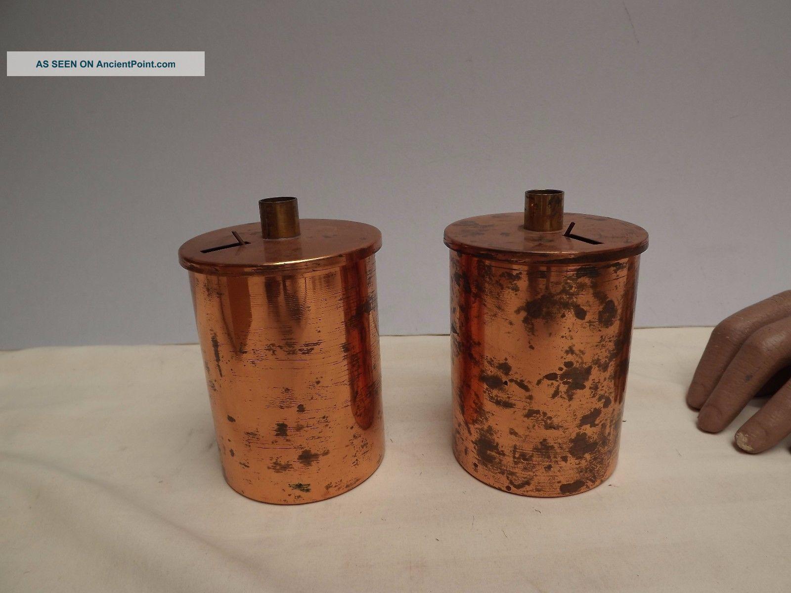 Calorimeter Can ( (copper))  C1930 Other Antique Science Equip photo