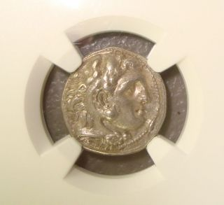 323 - 317 Bc Kingdom Of Macedon Philip Iii Ancient Greek Silver Drachm Ngc Au photo