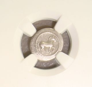 Late 5th To Early 4th Century Bc Thessaly Ancient Greek Silver Obol Ngc Vf photo