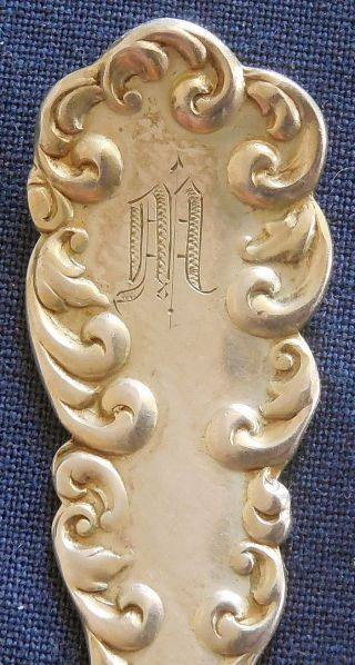 Antique,  Rm&s,  Cast Sterling Silver,  Demitasse Spoon,  Pat.  1892 photo