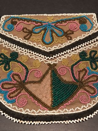 Exceptional Northeast Woodland Beaded Bag,  Attr.  Onandaga,  Museum,  Provenance,  Etc. photo