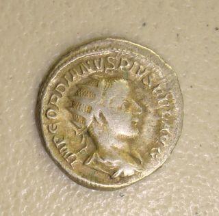 Ad 238 - 244 Gordian Iii,  Laetitia Reverse Ancient Roman Silver Double - Denarius Vf photo