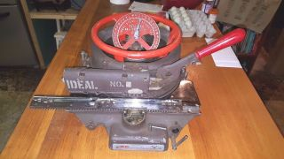 Ideal No.  4 Stencil Machine Belleville Ill.  /usa/antique Machinery/cast Iron 1/4