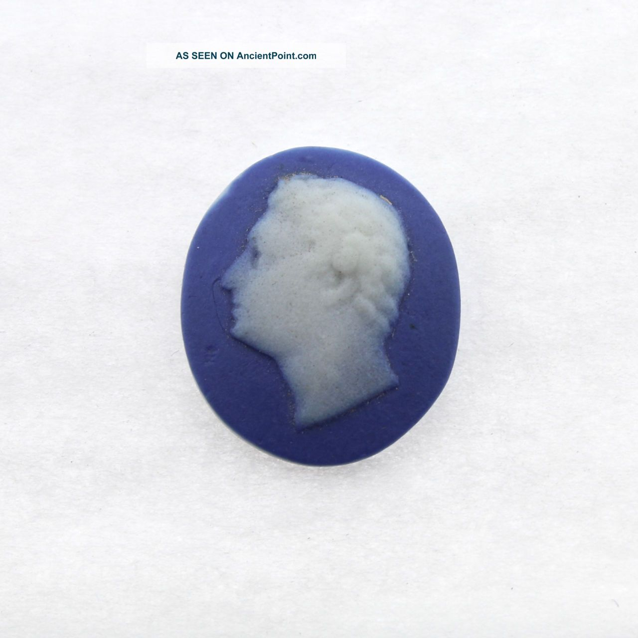 Antique Blue Jasper Medallion Of Julius Caesar - Button Jewelry Wedgwood ? Pc Buttons photo