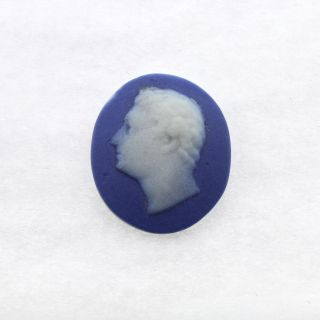 Antique Blue Jasper Medallion Of Julius Caesar - Button Jewelry Wedgwood ? Pc photo