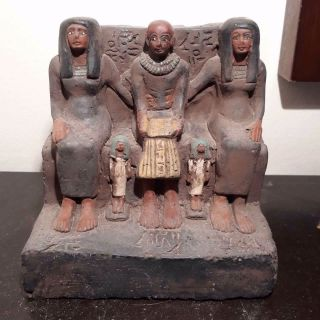 Rare Antique Ancient Egyptian Statue Architect Imhotep Build Pyramid2686 - 2649bc photo
