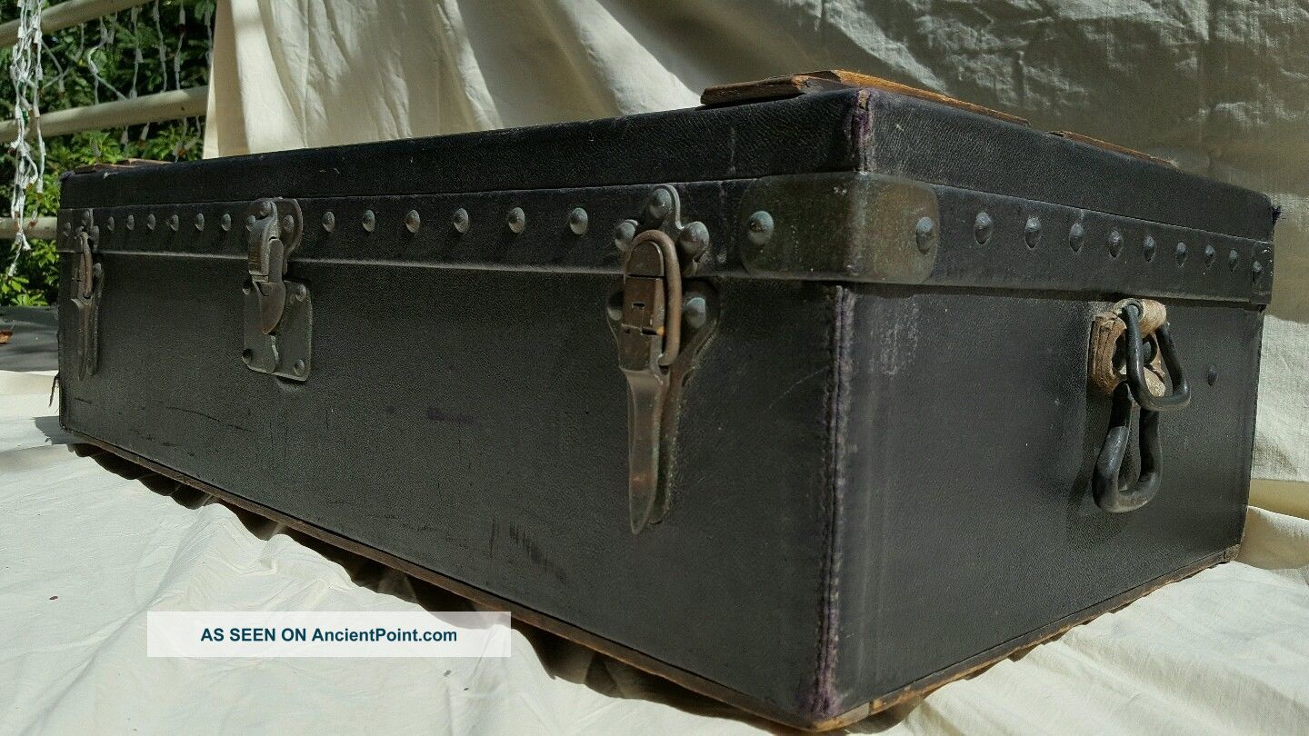 Louis Vuitton Antique Automobile Car Motor Trunk Suitcase 1900-1950 photo