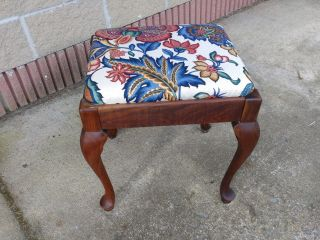 Antique Queen Anne Singer Sewing Storage Bench photo