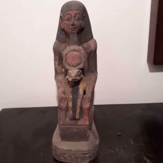 Rare Antique Ancient Egyptian Statue Chief Army Horemheb With Cobra1319 - 1292bc photo