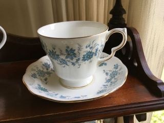 Colclough Braganza Blue Flowers Fine Bone China Tea Cup & Saucer Royal Albert Lt photo