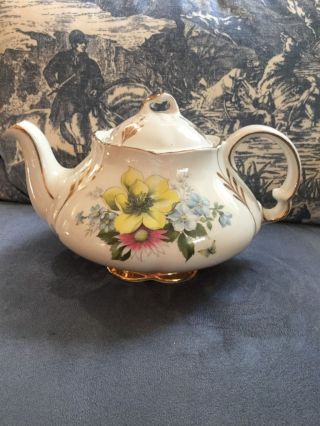 Antique England Tea Pot,  Ellgrave,  Wood&sons,  Ironstonegilt,  2572/a photo