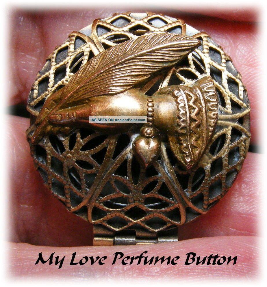 My Love Modern Perfume Locket Button Buttons photo